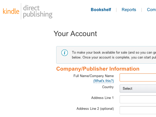 Create an Amazon DTP account